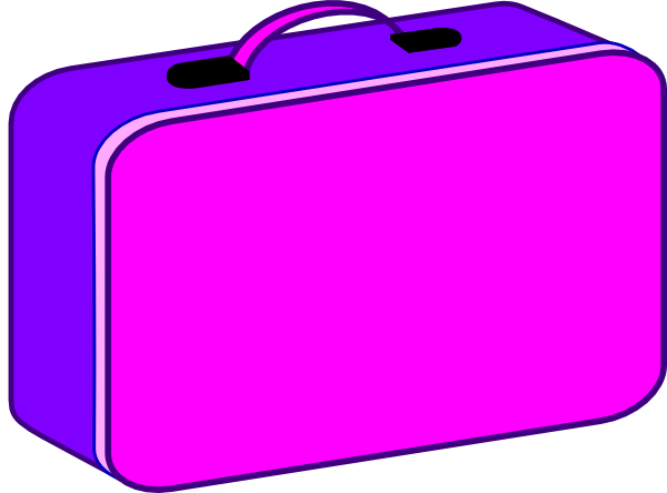 Lunchbox clipart clip art. Lunch box purple and