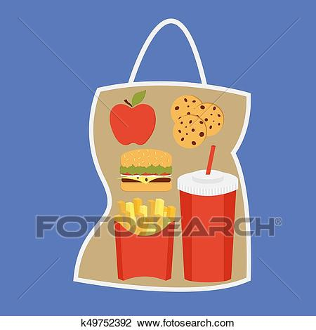 Free lunch box download. Lunchbox clipart fast food bag