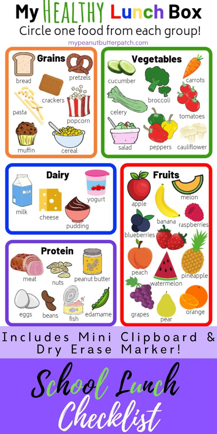My lunch box checklist. Lunchbox clipart healthy eating