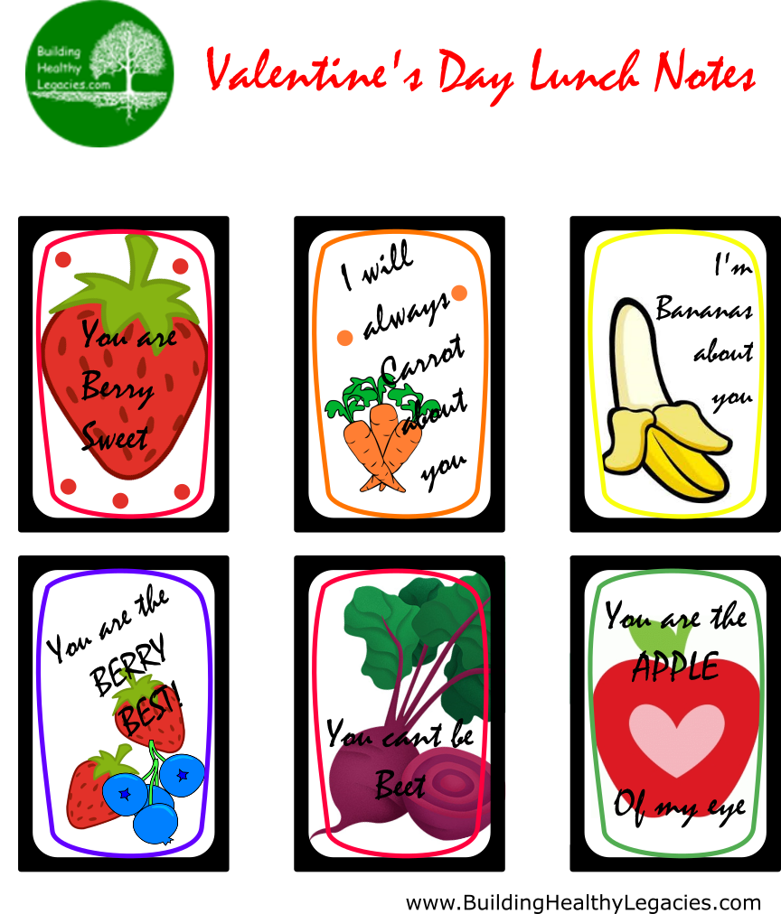 FREE Printable Lunch Box Notes » Building Healthy Legacies