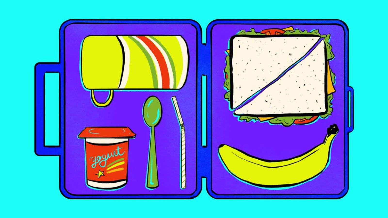 How to pack a. Lunchbox clipart helathy