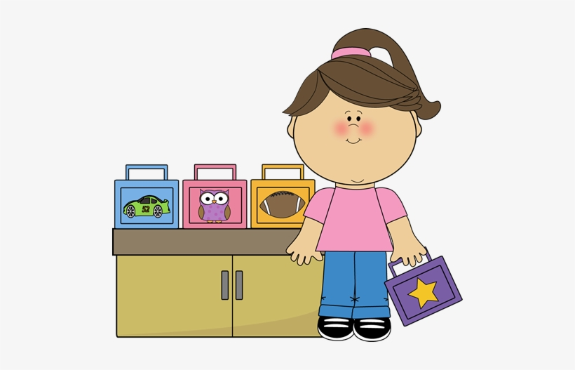 Girl lunch box monitor. Lunchbox clipart helper
