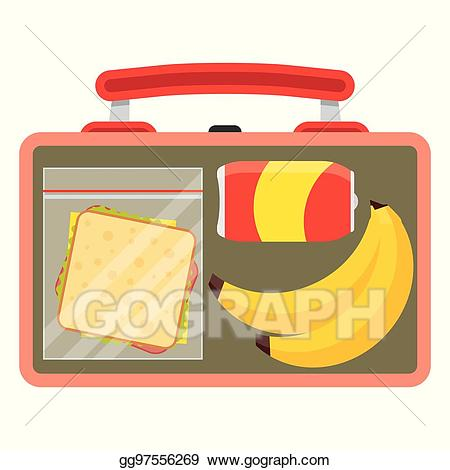 Clip art vector with. Lunchbox clipart lunch break sign