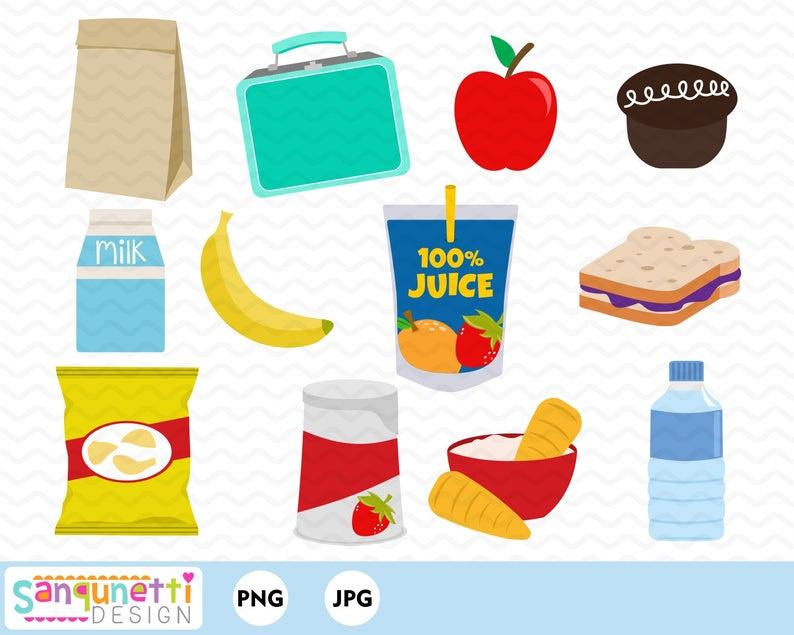 School food digital art. Lunchbox clipart lunch hour