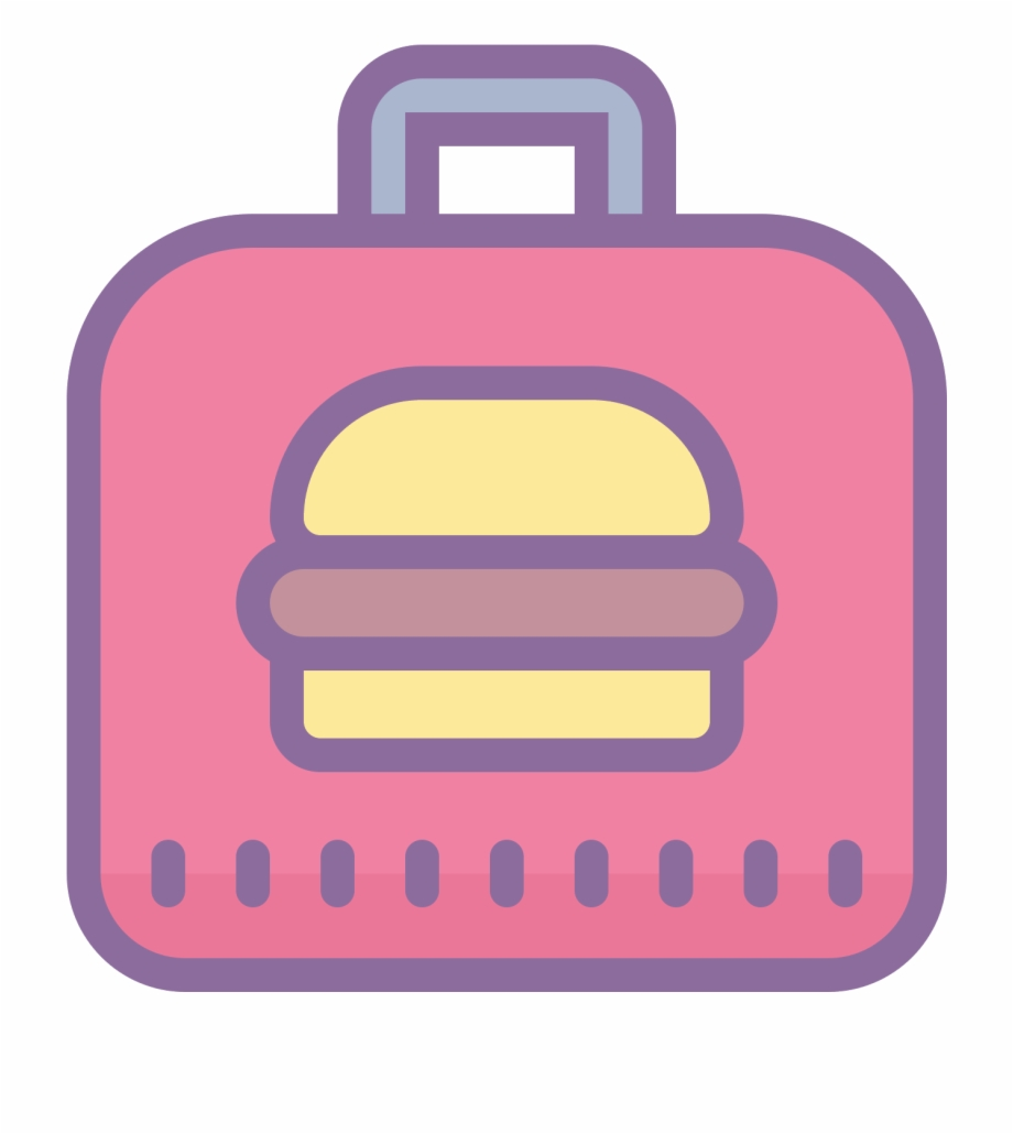 Lunch box transparent png. Lunchbox clipart pink