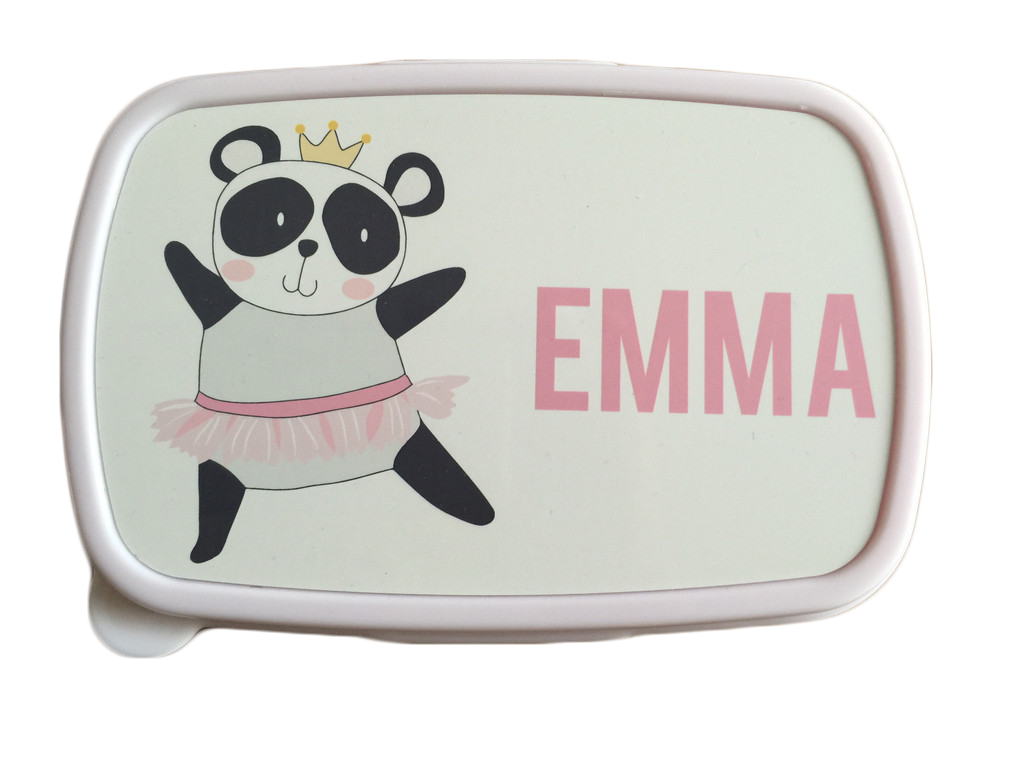 Pink lunch box personalised. Lunchbox clipart plastic bag
