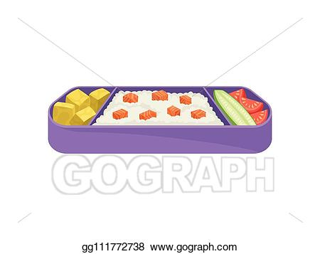 Lunchbox clipart purple. Vector art japanese food