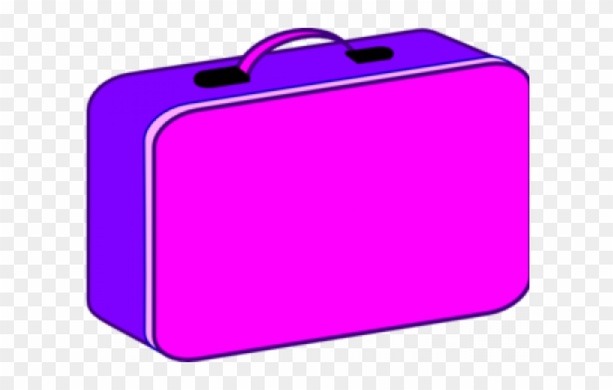 Lunch box green suitcase. Lunchbox clipart purple