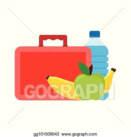 Lunchbox clipart school break time. Vector stock lunch or