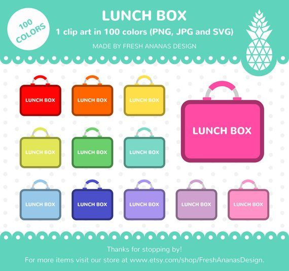 colors clip art. Lunchbox clipart school lunch line