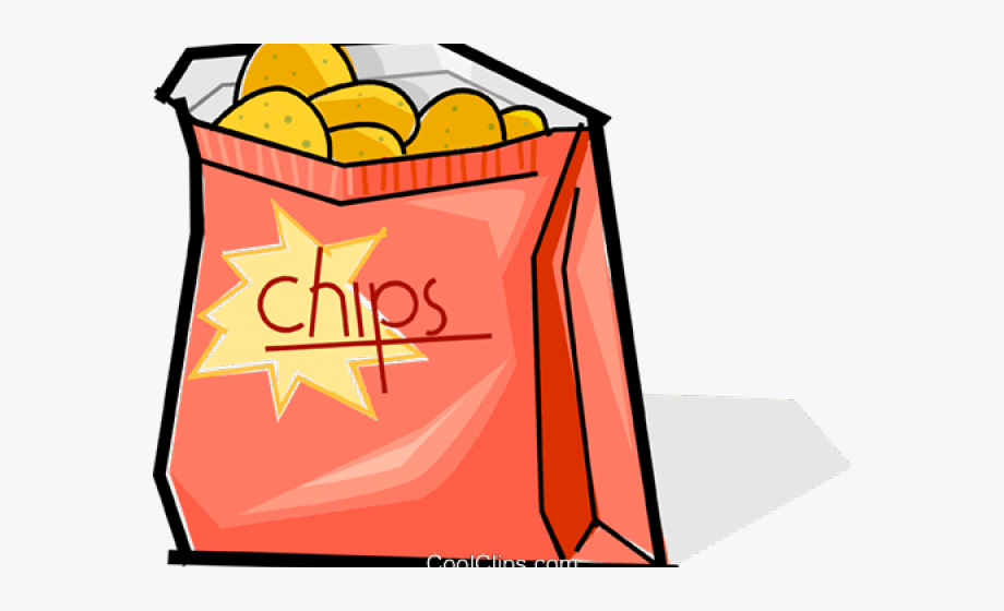 Lunch bag of chips. Lunchbox clipart snack box