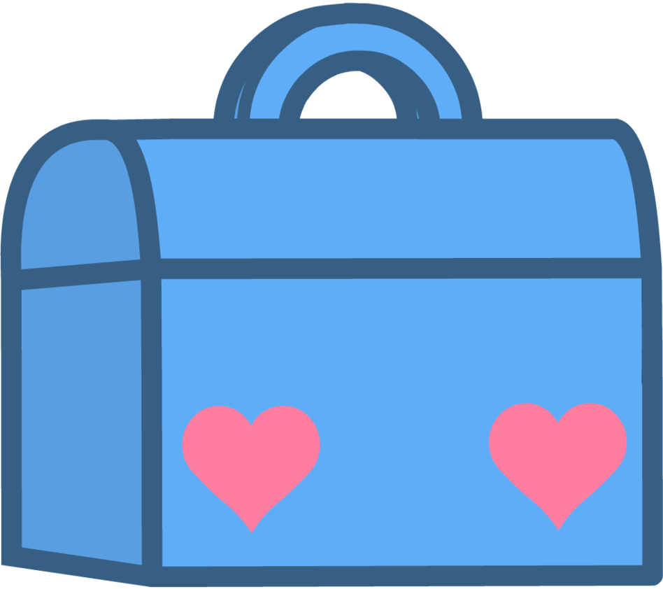 Battle for the show. Lunchbox clipart suitcase