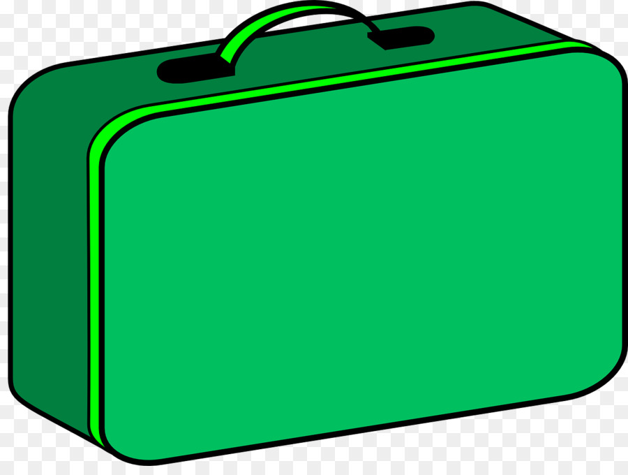 Green grass background rectangle. Lunchbox clipart suitcase