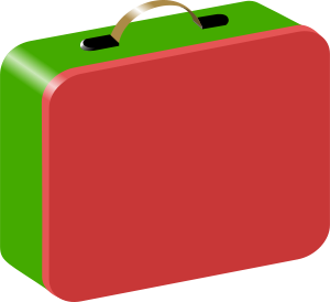 Children s by chambers. Lunchbox clipart suitcase