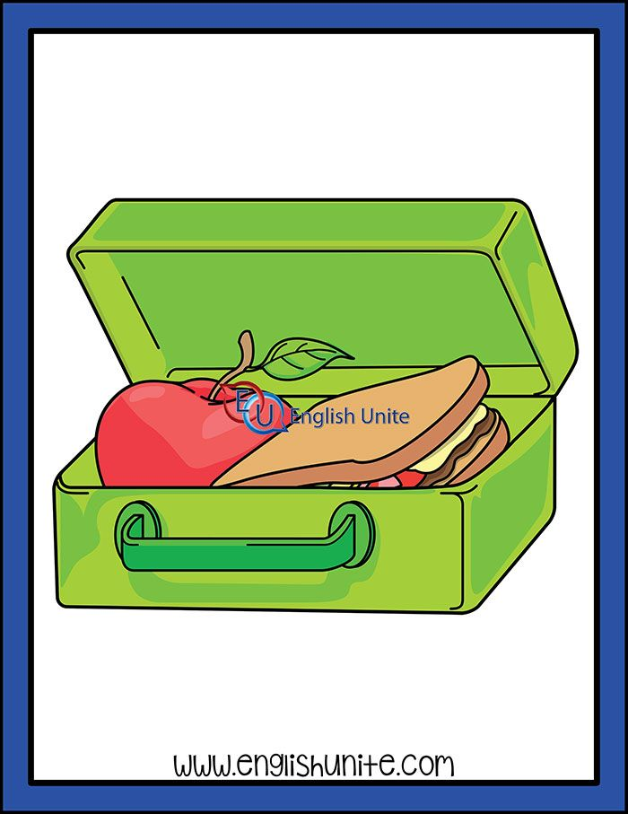Reusable lunch box clip. Lunchbox clipart well