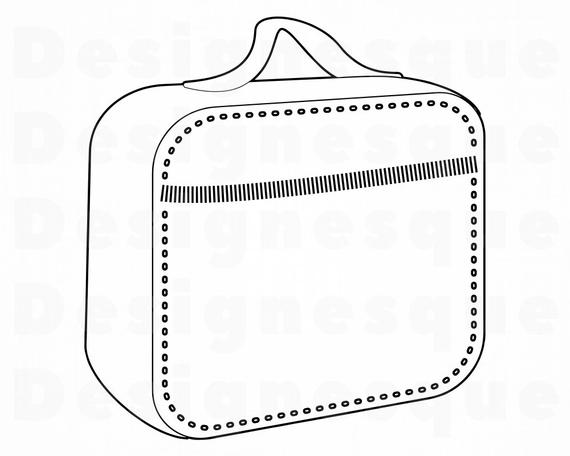 Outline svg files for. Lunchbox clipart well