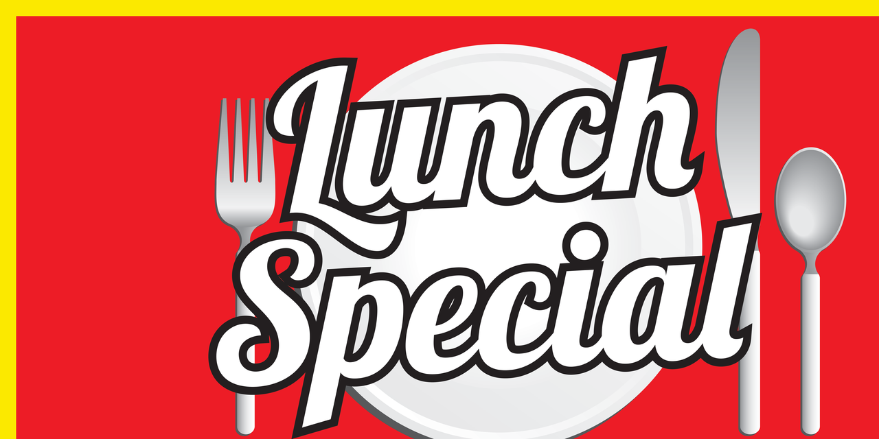 Luncheon clipart banner. Vinyl lunch special