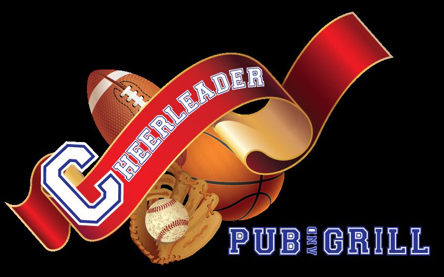 Cheerleader pub and grill. Luncheon clipart bar food
