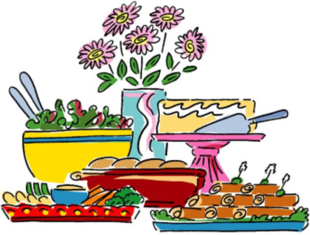 College student congregational lunch. Luncheon clipart covered dish
