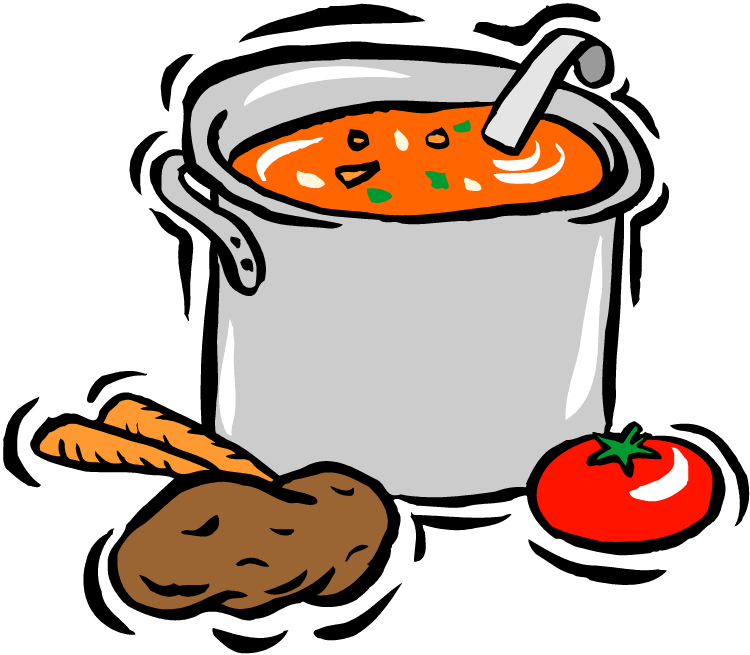 Luncheon clipart farewell. Soup and bun lunch