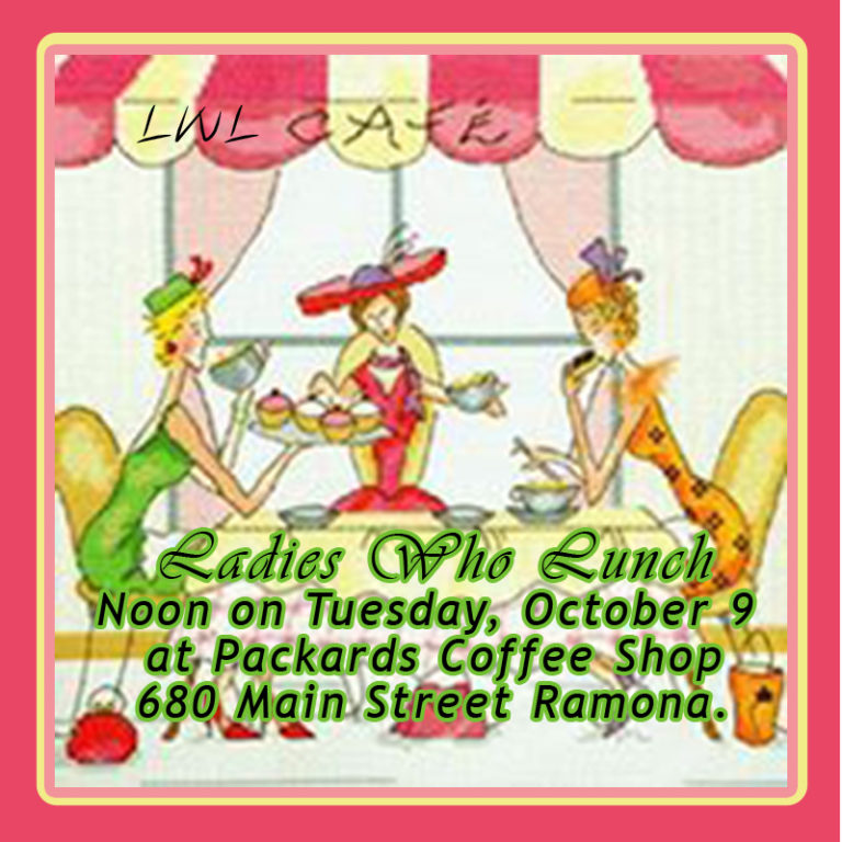 Luncheon clipart lunch order. Ladies who october ramona