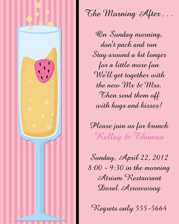 Mimosa after brunch invitations. Luncheon clipart wedding breakfast