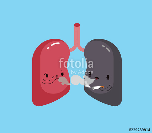 Healthy of and good. Lungs clipart bad lung