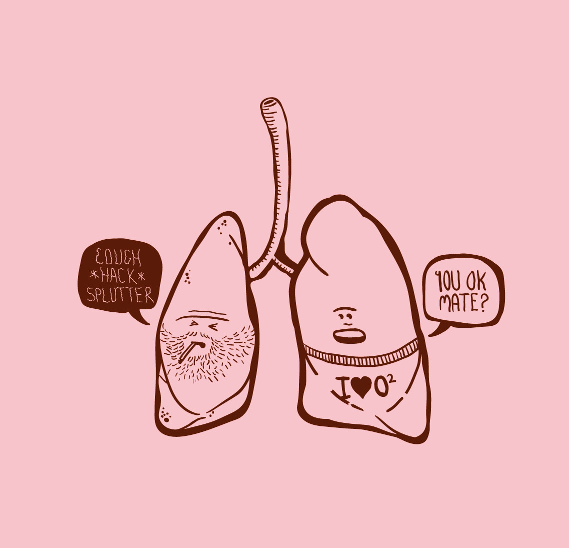 Lungs clipart bad lung. Good drawing free image