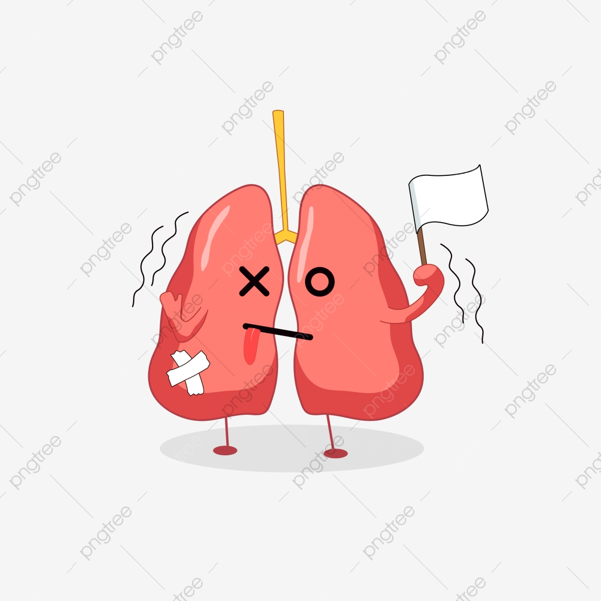 Lungs clipart cartoon. Tuberculosis prevention organ day
