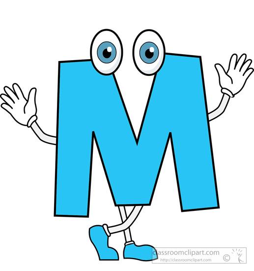 Alphabets letter cartoon alphabet. M clipart