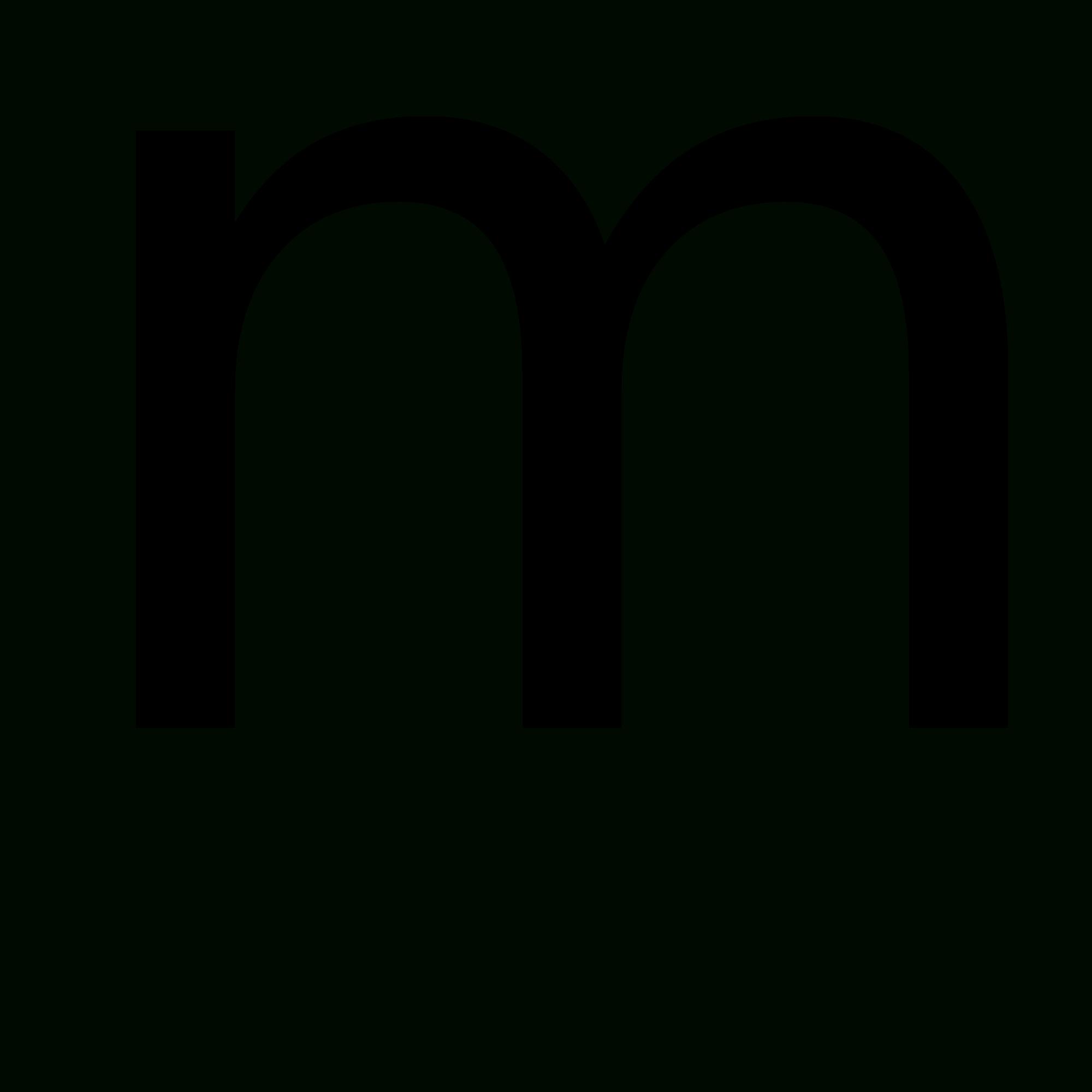 Lowercase letters format fileletter. M clipart letter