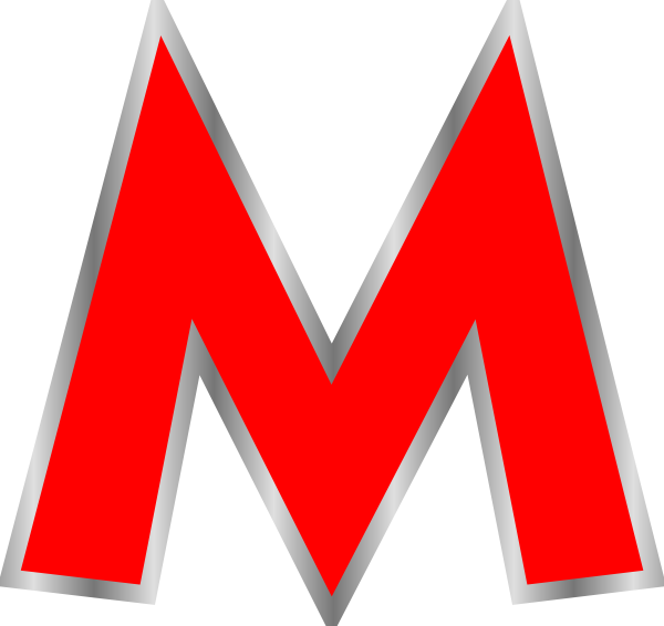 M clipart letter. Red clip art at