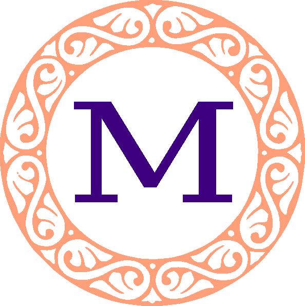 Clip art at clker. M clipart monogram