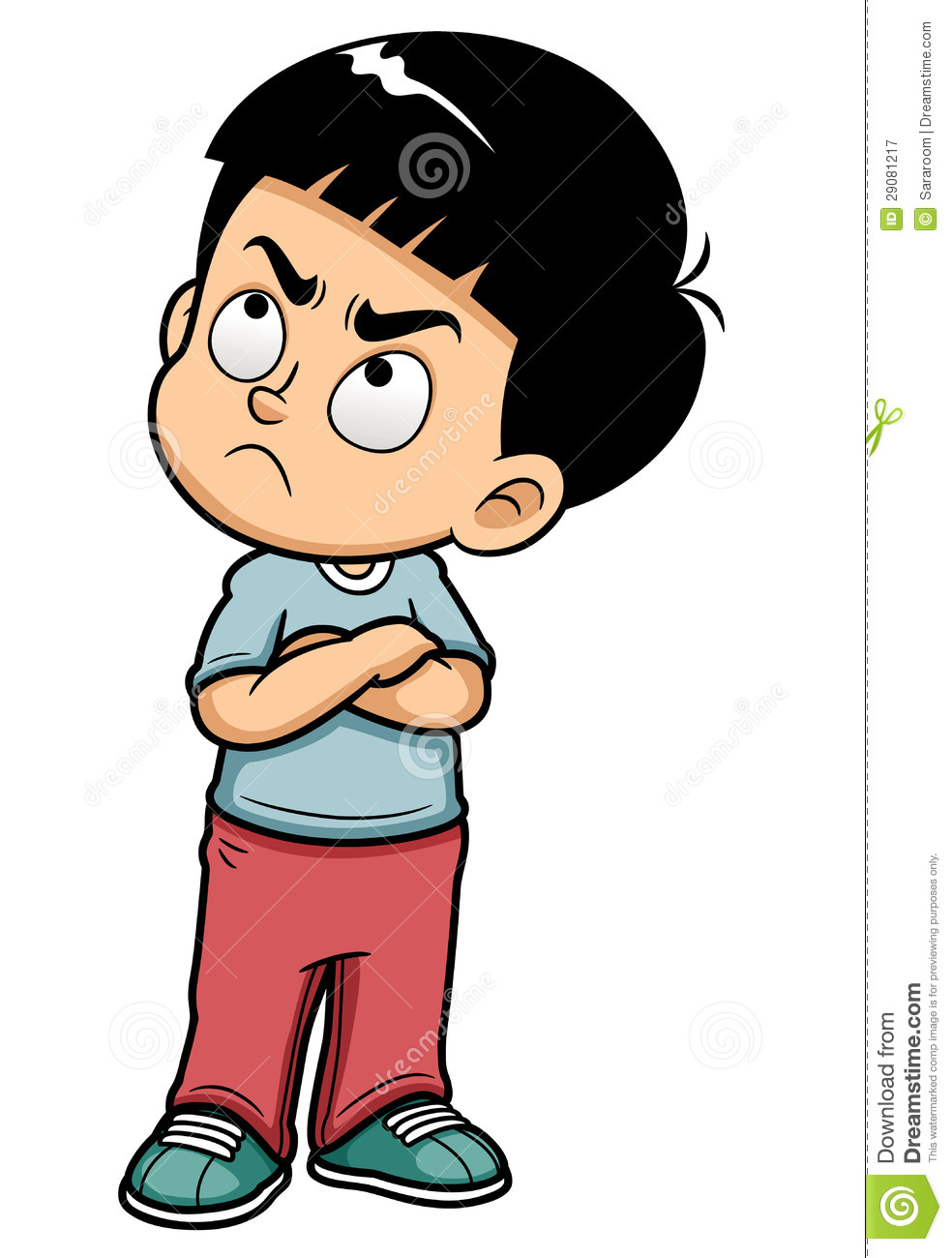 Boy . Mad clipart