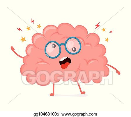 Psychology clipart intellectual. Vector illustration funny cute