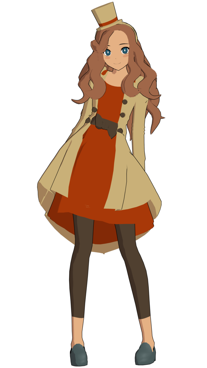 Lady katrielle layton by. Mad clipart brown hair