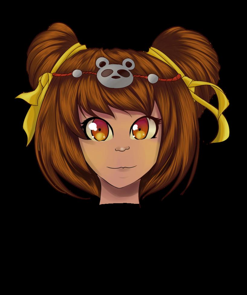 Mad clipart brown hair. Annie panda by dreamynart