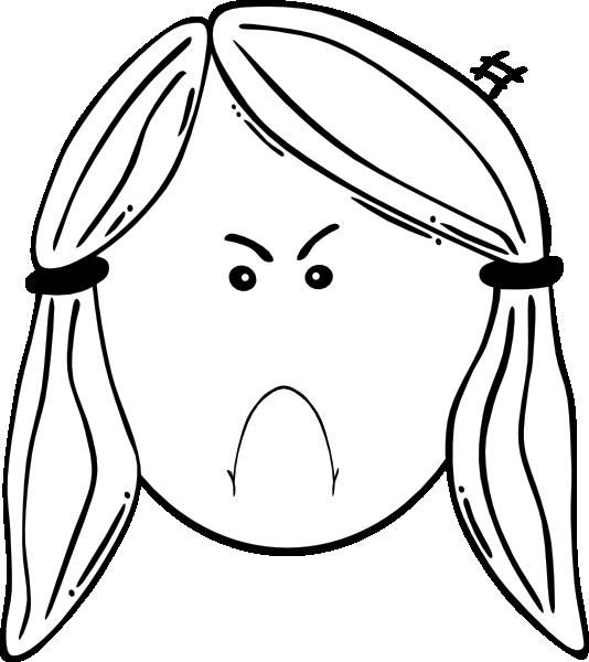 Face outline clip art. Mad clipart bug