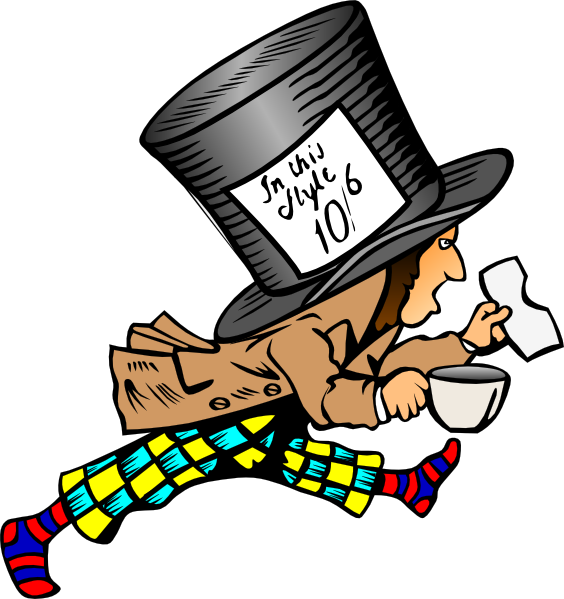 Hatter clip art at. Mad clipart bug
