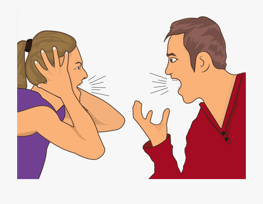 Argue angry husband and. Mad clipart couple