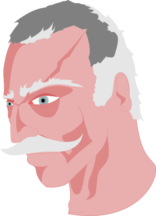 Old man i royalty. Mad clipart cross