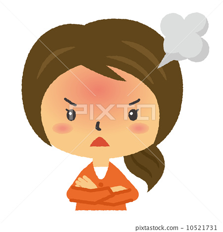 Mad clipart indignation. Female angry anger stock