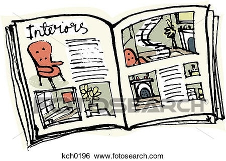 Letters stock illustration of. Magazine clipart