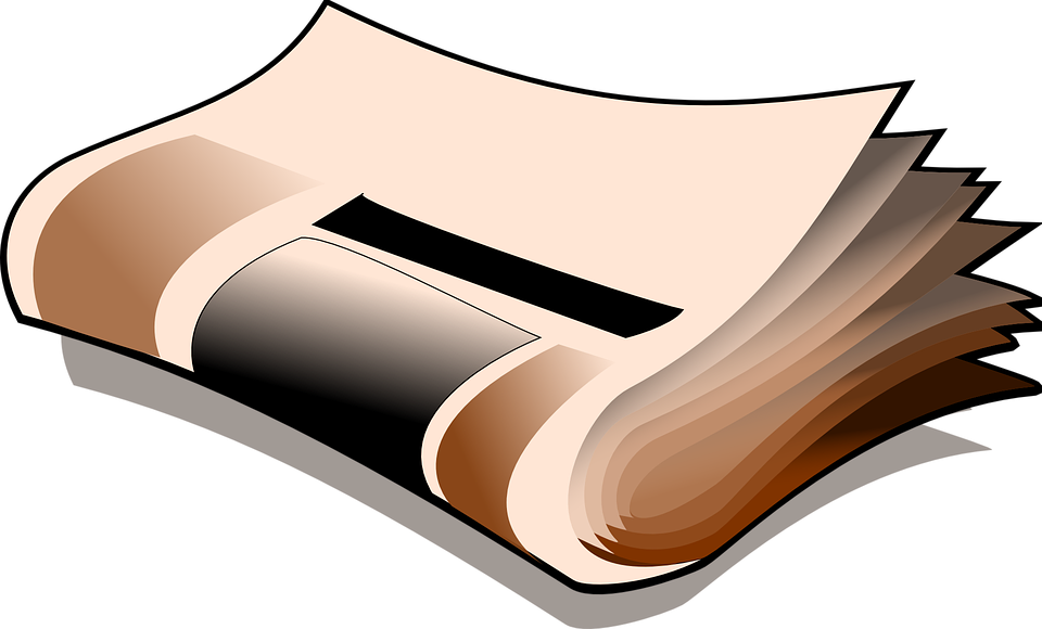 Journal clipart periodical. Newsletter article frames illustrations