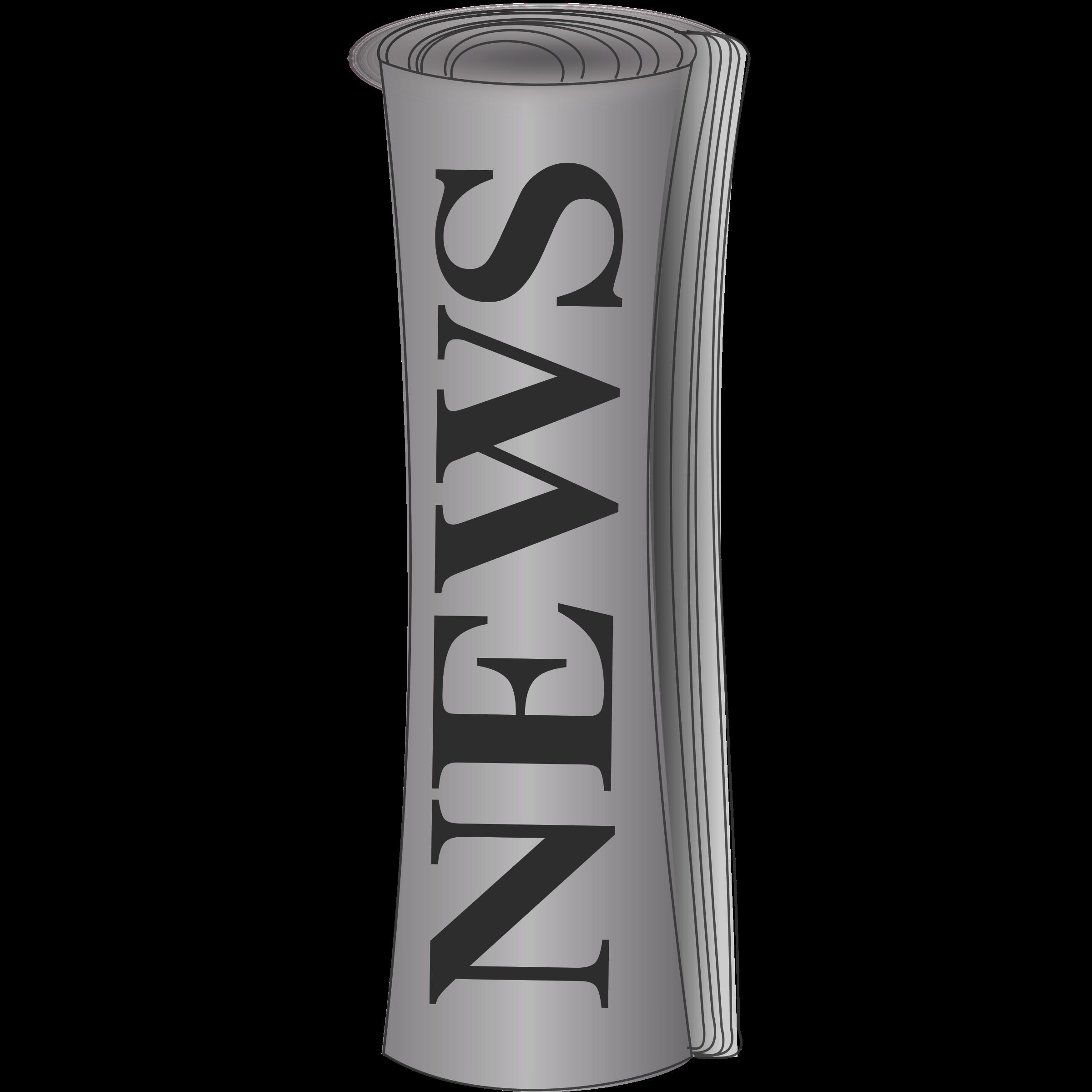 Clip art extra panda. News clipart rolled newspaper