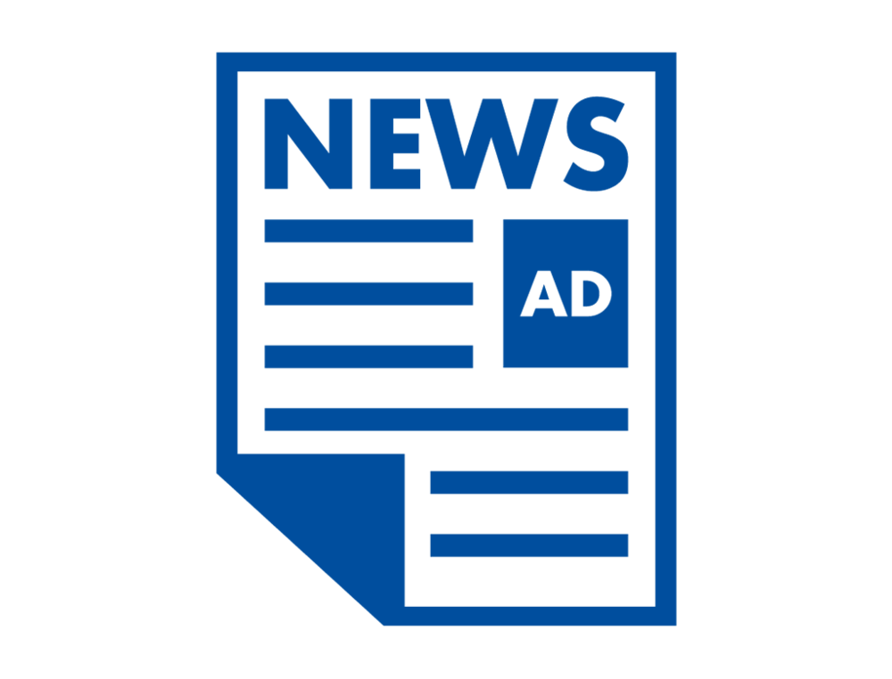 Ads lbam ad icon. Newspaper clipart newspaper advertisement