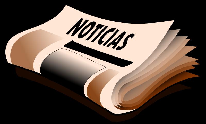 Trying to speak spanish. Magazine clipart newspaper column