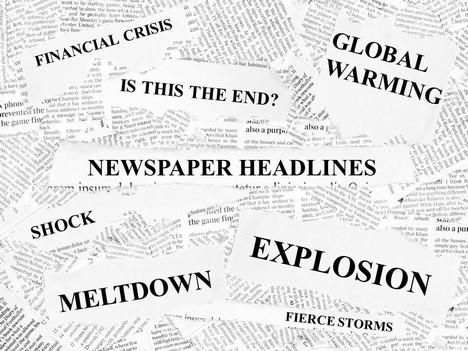 Free headlines powerpoint template. Magazine clipart newspaper headline