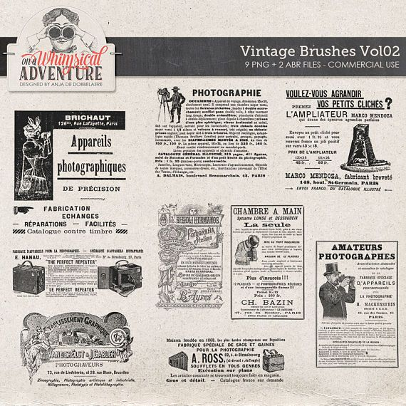 Vintage photographer ads commercial. Magazine clipart old newspaper