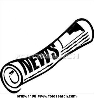 Magazine clipart rolled up. Newspaper free download best